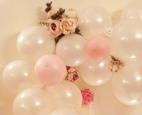 organic ballon birthday party